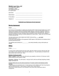 Mowing Contract Template. maintenance contract sample back office ...