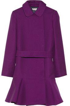 Miu Miu Dropped-waist gabardine coat | THE OUTNET