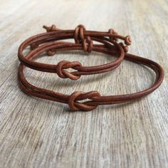Brown Couples Bracelet His and her Bracelet Celtic Knot