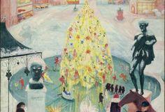 Florine Stettheimer, Christmas, um 1930-1940 Öl auf Leinwand, 152,6 x 101,6 cmYale University Art Gallery, New Haven, CT  Gift of the Estate of Ettie Stettheimer