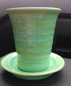 Tandborstmugg och tvålfat Pottery, Ceramics, Tableware, Diy, Green, Ceramica, Ceramica, Do It Yourself, Dinnerware