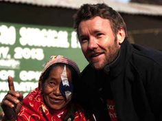 When he was an ambassador for the Fred Hollows Foundation, restoring sight for people in Nepal