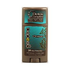 Geo-deo Natural Deodorant Stick With Detox Complex Ocean - 2.3 Oz