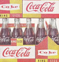 Soda came in glass bottles; Vintage recycling:  getting money back by returning empty bottles to the grocery store.