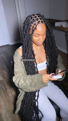 Braids Hairstyles Pictures, Faux Locs Hairstyles, Black Girl Braided Hairstyles, Black Girl Braids, Baddie Hairstyles, Braids For Black Hair, Girls Braids, Pretty Hairstyles, Short Hairstyles