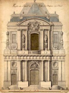 Elevation of the Oratoire, Paris