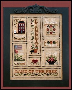 Little House Needleworks, Country Cottage Needleworks, Counted Cross Stitch Patterns, Cross Stitch Kits, Cross Stitch Finishing, Cross Stitch Store, Heart Of America, Liberty Rose, Blackbird Designs