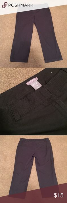 """Ann Taylor Signature Fit Black Pants Excellent condition! Waist is 19"""", inseam is 24"""" Ann Taylor Pants Ankle & Cropped"""