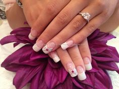 Pretty nails with bow details