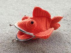 Buy Goldfish Coin Purse crochet pattern - Allcrochetpatterns.net