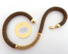 Bronze Necklace/Rope Necklace/Beaded Necklace/Statement necklace/Gift Idea/Virtù n.22 (bronze version)