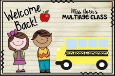 Welcome Back Postcards for Back to School!