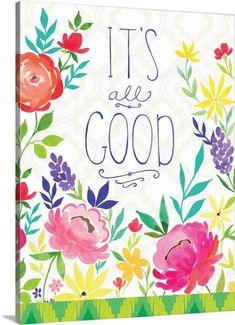 Stephanie Ryan Premium Thick-Wrap Canvas Wall Art Print entitled Its All Good, None
