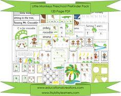 Little Monkeys Preschool PreKinder Pack