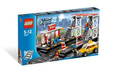 Get on the inside track with the new LEGO® City train station! All aboard, the busy, new LEGO® City Train Station is now open, includes 4 minifig Lego City Train, Lego City Sets, Lego Trains, Lego City Police, Shop Lego, Buy Lego, Building Blocks Toys, Building For Kids, Nerf