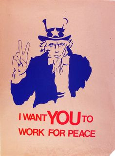 great student anti-war poster from the 1960's