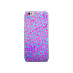 Pink Turquoise Cheetah iPhone case
