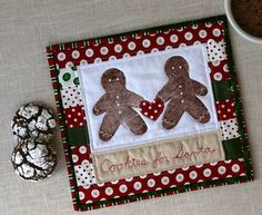 """""""Cookies for Santa"""" Mug Rug by During Quiet Time (Amy), via Flickr"""