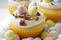 Celebrate Easter with White Chocolate Cupcake