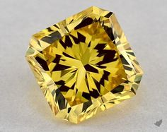 This Square Radiant Cut Carat Lab-Created Fancy Vivid Yellow Color, Clarity, and has a diamond grading report from IGI, and measures x A stunning diamond and of the price of a fancy yellow natural Diamond. Lab Diamonds, Colored Diamonds, James Allen Rings, Radiant Cut Diamond, Natural Diamonds, Diamond Engagement Rings, Fancy, Shapes