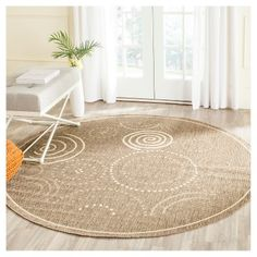 Cannes Rectangle 8' X 11' Patio Rug - Brown / Natural - Safavieh