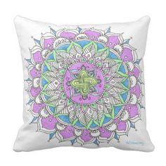 Celtic Mandala Throw Pillow custom gift ideas diy