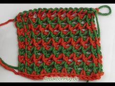 Tunisian Crochet - crow's feet (IN GERMAN - If you are familiar with Tunisian Crochet you can watch this video to learn this stitch... The video is very good... Deb)