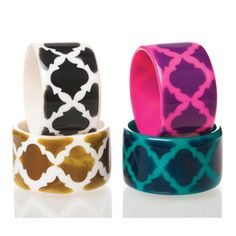 Arabesque Bracelets from Blossom Boutique by Evergreen Enterprises (www.myevergreen.com)