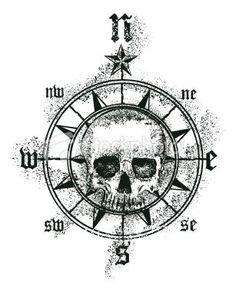 simple pirate tattoo - Google Search