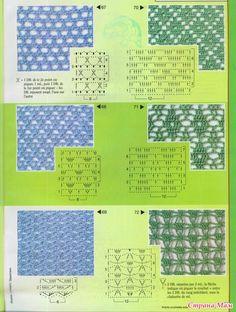 Crochet stitches & graph patterns