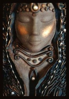 Sea goddess image - terracotta - by Antonia Lomny