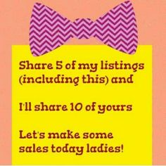 Share 4 of my listings, like & share this post and ... I will share 10 of your listings! Let's grow together! Other