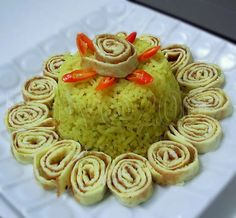Nasi Kuning, Indonesian Yellow Rice | Indonesia Eats | Authentic Online Indonesian Food Recipes