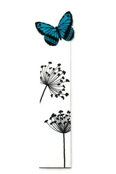 Butterfly Bookmark by CocoRaes on Etsy Diy Bookmarks, How To Make Bookmarks, Crochet Bookmarks, Cross Stitch Bookmarks, Corner Bookmarks, Paper Crafts Origami, Blue Butterfly, Craft Fairs, Cool Things To Make
