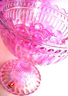 Everybody who is of Finnish descent is morally obliged to own at least one of these bowls. Bright Pink, Pink Purple, Hot Pink, Color Magenta, My Favorite Color, My Favorite Things, I Believe In Pink, Crystal Glassware, Pink Power