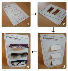 Grotesque Eyewear fold up display