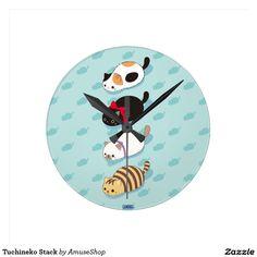Tuchineko Stack Round Wall Clocks #reloj #clock