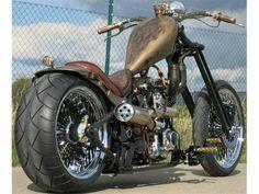 Barbarian Motorcycles Old School Highneck Chopper Barbarian Custom Bike HAMMER Custom Bobber, Custom Choppers, Custom Harleys, Custom Motorcycles, Custom Bikes, Custom Cycles, Chopper Motorcycle, Bobber Chopper, Harley Bobber