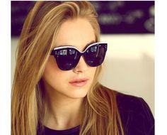 High Quality Fashion Brand Designer Sunglasses Women Cat Eye Sunglases 2016 Retro Vintage Sun Glasses Cateye Rose Sunglass
