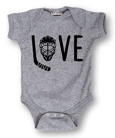 Look at this #zulilyfind! 'Love' Hockey Bodysuit - Infant #zulilyfinds