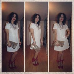 #OOTD Getting Holiday Ready on a Budget! Pt I The wonders you can do with a simple $5 #LWD To read more about this post visit/follow #MadForFashionForLess on Facebook!  #latinafashiondiaries #lookforless #lookfabulousatanyage #becauseilovetodressup #dominicanfashionblogger #modalatina #blogeralatina #VictoriaSecretClutch #TargetAccessories #modalatina #blog #post