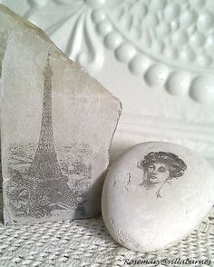 Learn how to transfer images onto marbles or rocks with this tutorial via villabarnes.com