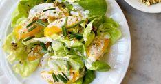 Butter Lettuce Salad with Pistachios and Orange Crème Fraîche Dressing Recipe | SAVEUR