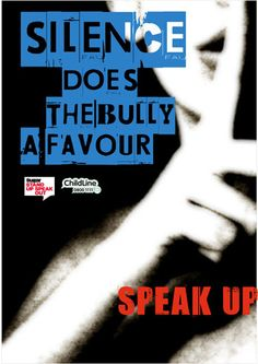Anti-Bullying Poster Ideas | Anti-bullying poster: SPEAK UP FOR YOURSELF!!!