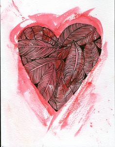 leaves heart