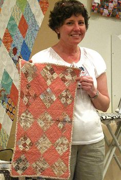 Kathy presented an antique quilt trunk show at Suppose Creative Guild. This quilt has quite a story that will have to be for another day. Antique Crib, Antique Quilts, Vintage Quilts, Antique Dolls, Amish Quilts, Scrappy Quilts, Baby Quilts, Crib Quilts, Quilt Display