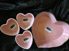 NEW-4-PIECE-HEART-RAMEKINS-PINK-BAKEWARE-VALENTINES-CHANTAL-MULTI-FUNCTIONAL Bakeware, Valentines, Heart, Pink, Ebay, Valentine's Day Diy, Valantine Day, Valentine's Day, Pink Hair