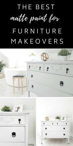 How to #Paint a #Gray #Dresser in a #matte, #chalk, #farmhouse finish using #Fusion #Mineral #Paints. Great for any room makeover!