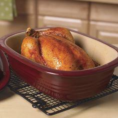 Tonight's dinner - roasted chicken in my Deep Dish Baker