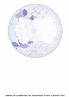 Blue Rose Circle2 Matching Circle 7in Insert Panel on Craftsuprint - Add To Basket!